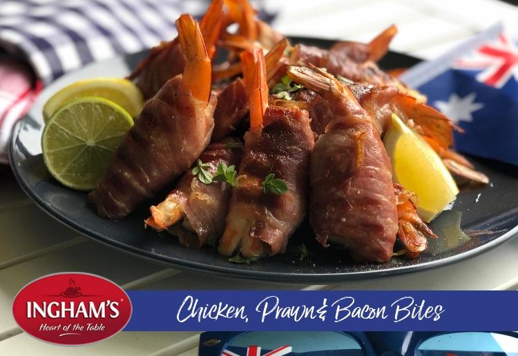Chicken, Prawn & Bacon Bites