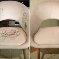 Mum Shares $1 ALDI Spray Saved Her Favourite Chair After Toddler Ruined it