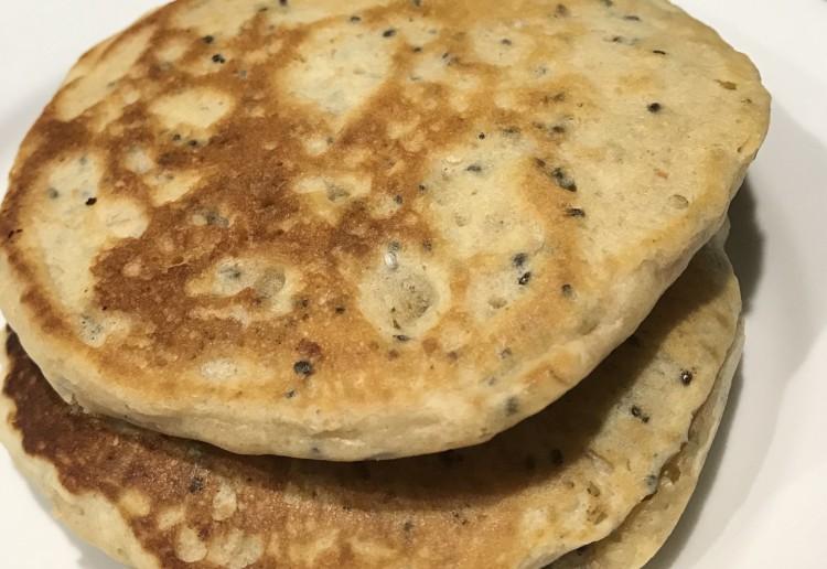 Peanut Butter Chia Pancakes