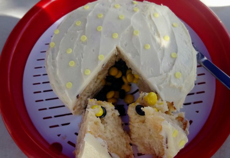 Easy gender reveal cake