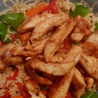 Lime Chicken and Vegetable Rice