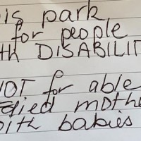 Mum Responds After Receiving Nasty Note for Parking in Disabled Spot
