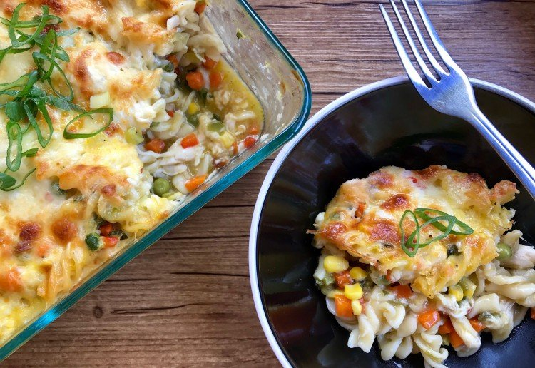 Janet's Smothered Chicken Pasta Bake