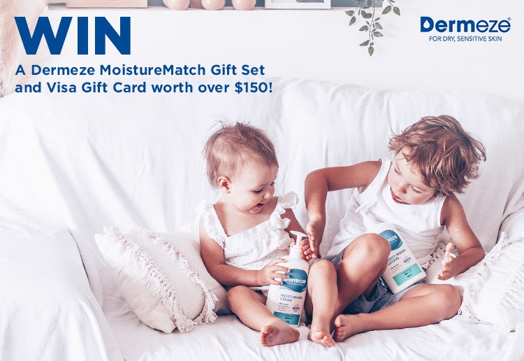 WIN 1 of 5 Dermeze Gift Sets and a Visa Gift Card!