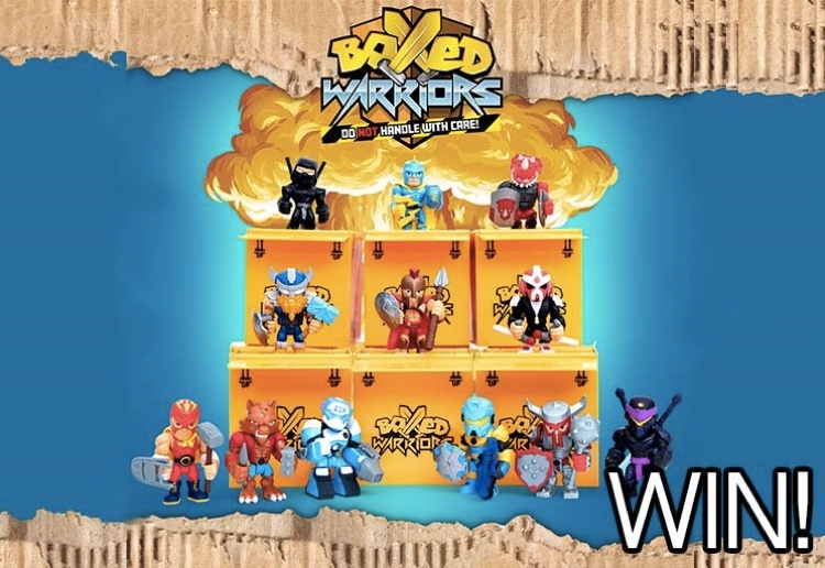 Battle It Out To WIN 1 of 6 BOXED WARRIORS Prize Packs