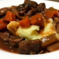Slow Cooked Beef, Mushroom & Red Wine Stew