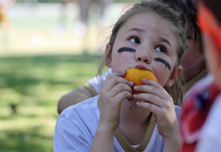 Oranges at half time are frequently being replaced by lollies