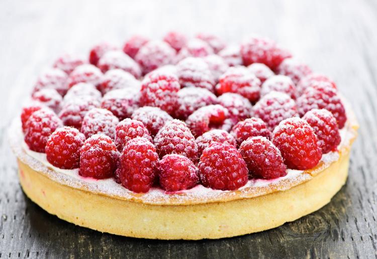 Raspberry Cream Cheese Pound Cake
