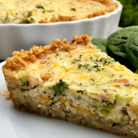 Brown Rice Crusted Quiche
