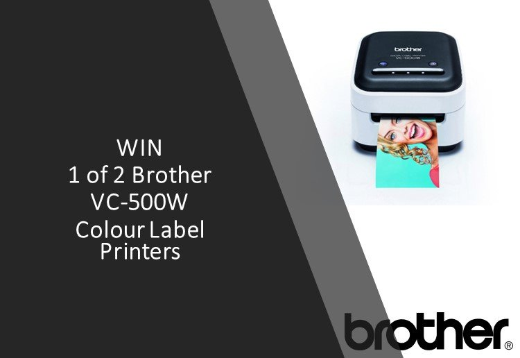 Win 1 of 2 Brother VC-500W Colour Label Printers!