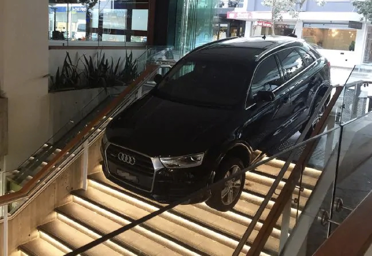 tessie reviewed Uber Driver Drives Down Staircase With Luxury Car